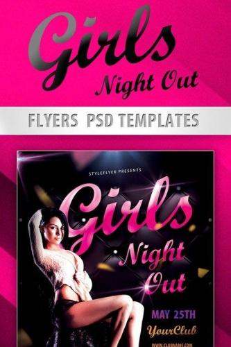 Girls Night Out Party Flyer PSD Template