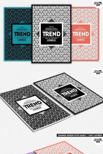 GEOMETRIC TRENDY Flyer Template