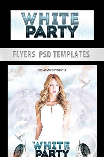 White Party Flyer PSD Template