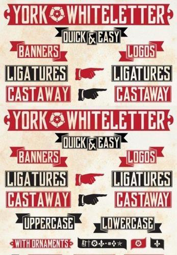 York Whiteletter font