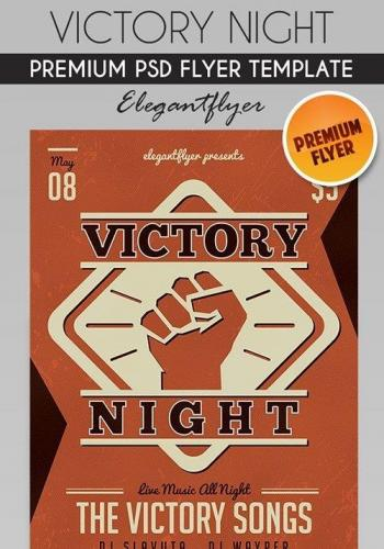 Victory Night Flyer PSD Template