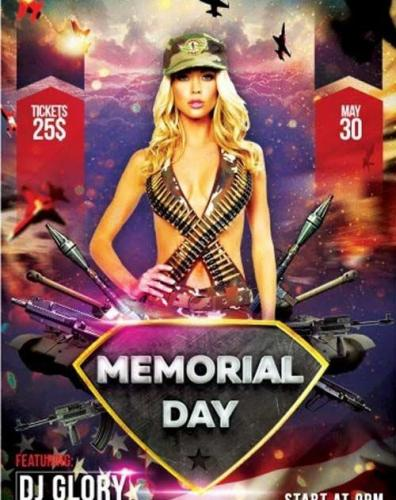 Memorial Day V8 PSD Flyer Template