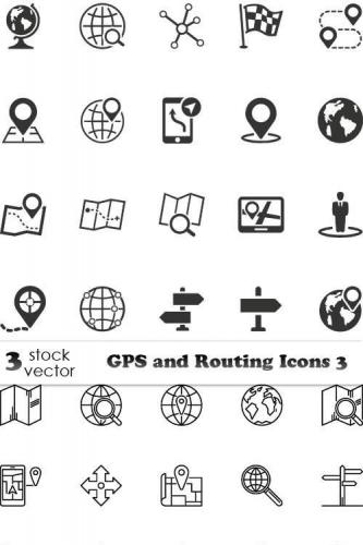 GPS and Routing Icons 3