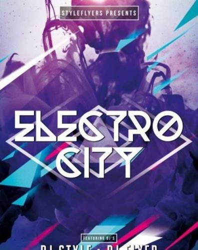 Electro City V3 PSD Flyer Template
