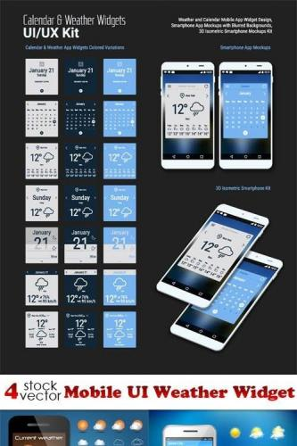 Mobile UI Weather Widget