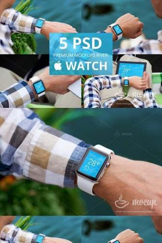 5 PSD Apple Watch River
