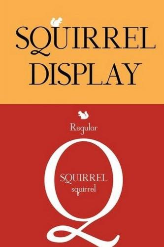 Squirrel display font
