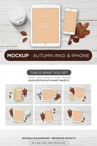 Mockup Autumn ipad & iphone