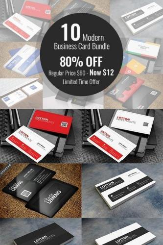 10 Modern Business Card Bundle
