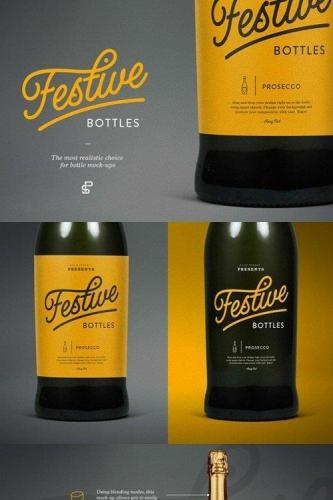 Prosecco Bottle Mock-Up