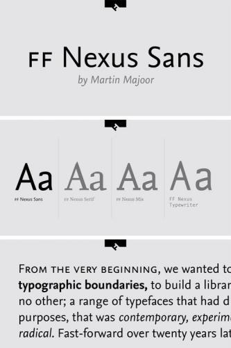 FF Nexus Sans Font Family