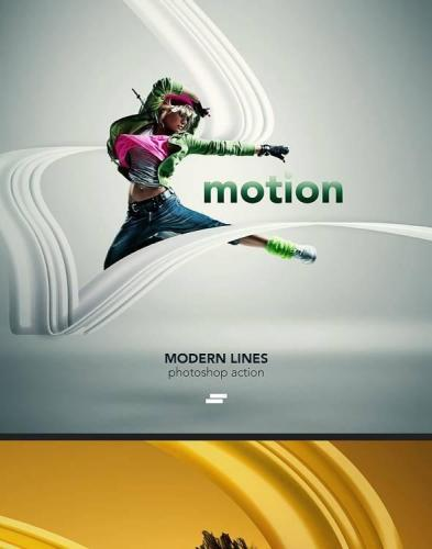 Modern Lines Photoshop action