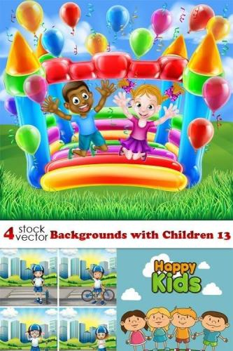 Backgrounds with Children