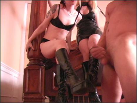 Clubdom.com- Lick cum from Her boots
