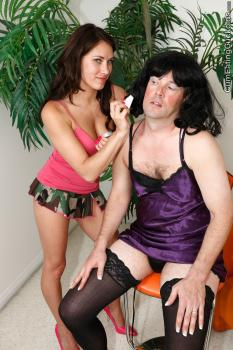 Cumeatingcuckolds.com- Dahlia Dresses Up Her Pretty Sissy