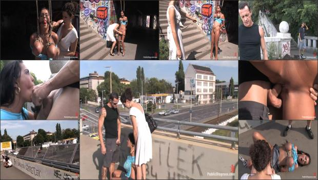 Kink.com- BEST OF EUROPE: BIG NATURAL TITS TIED IN PUBLIC!!!!-Black Yasmin