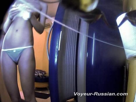 Hidden-Zone.com- Pv418# Tanned blond in blue panties undressed and going to sunbathe. Our hidden camera behind the