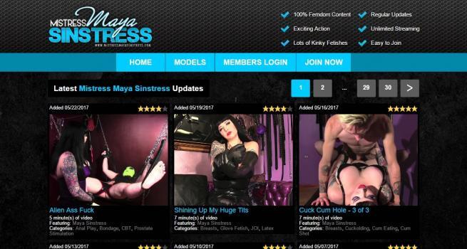 MistressMayaSinstress - SiteRip