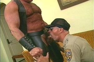 Awesomeinterracial.com- Horny DILF Gay Uniform Porn Sex