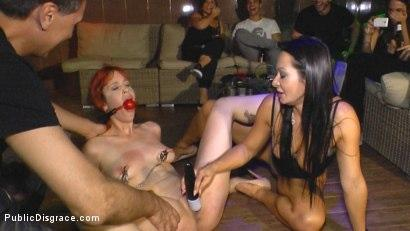Kink.com- Redheaded slut beautifully disgraced on streets of Madrid-Lilyan Red, Sandra Romain, Steve Holmes