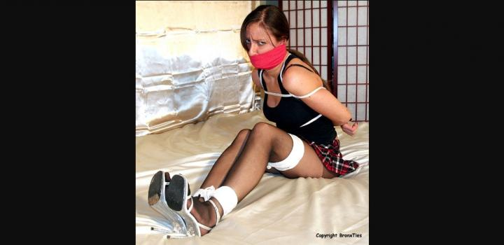 Bronxties.com- Masha Tape Gagged