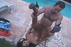 Awesomeinterracial.com- A Tranny Gets Plowed By The Pool