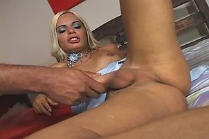 Awesomeinterracial.com- Big Dick Tranny Babe Fucks Dude In His Ass And Mouth