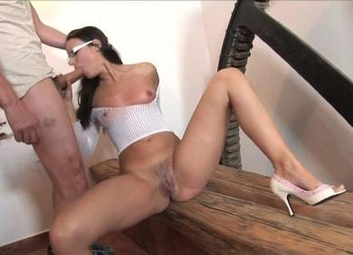 Hustler.com- Claudia Rossi in High Heels And Glasses