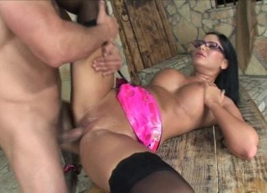 Hustler.com- Angelica Heart in High Heels And Glasses
