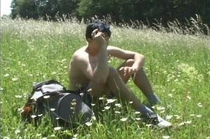 Awesomeinterracial.com- Hard Bareback Gay Anal Sex In A Field